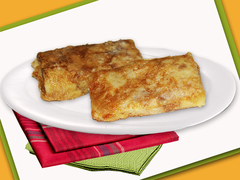 Pancakes with meat fried, kg