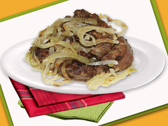The liver fried with onions, kg